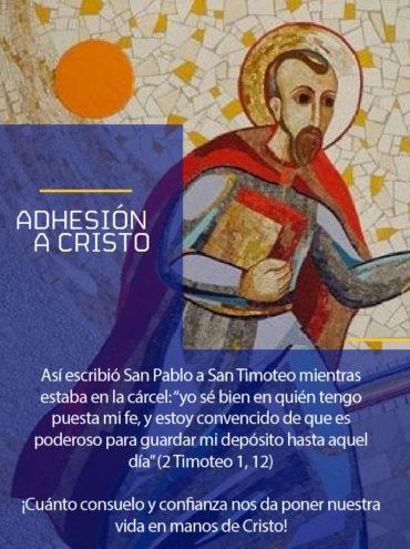 Modelo a seguir: Adhesión a Cristo