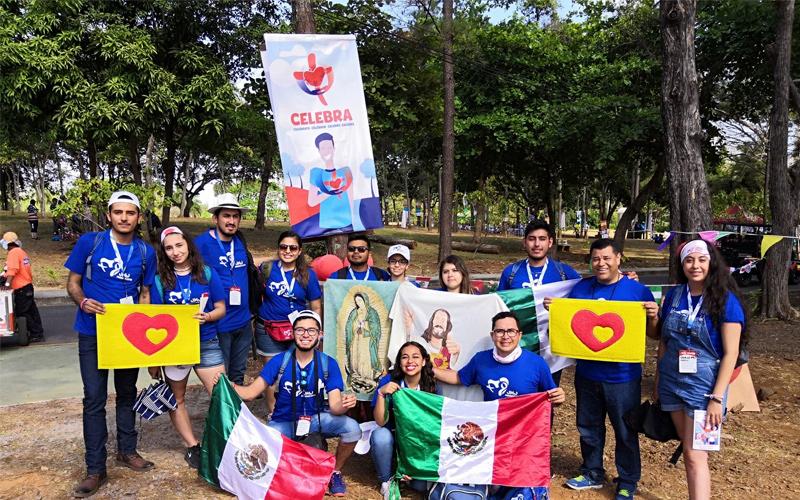 Jóvenes en la Jornada Mundial de la Juventud Panamá 2019