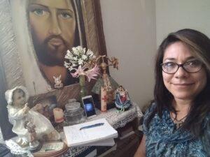 Patricia Barrera tomando el curso en Querétaro